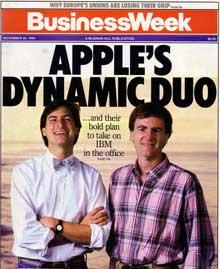 Steve Jobs and John Sculley