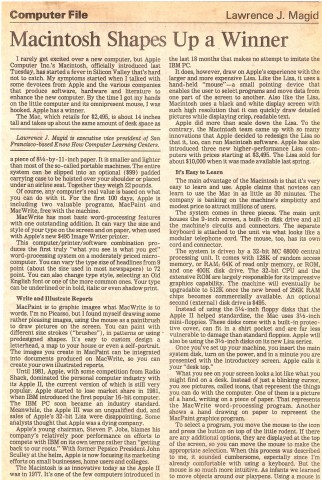 The original review from the LA Times. Click through for a larger version. (Credit: Larry Magid/Los Angeles Times