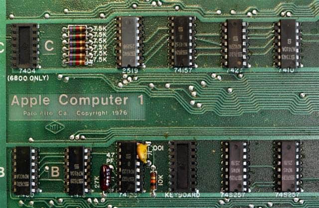 1976: Apple I - Mainboard