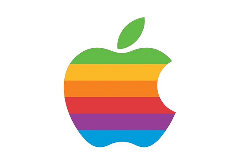 1977: Apple's rainbow logo