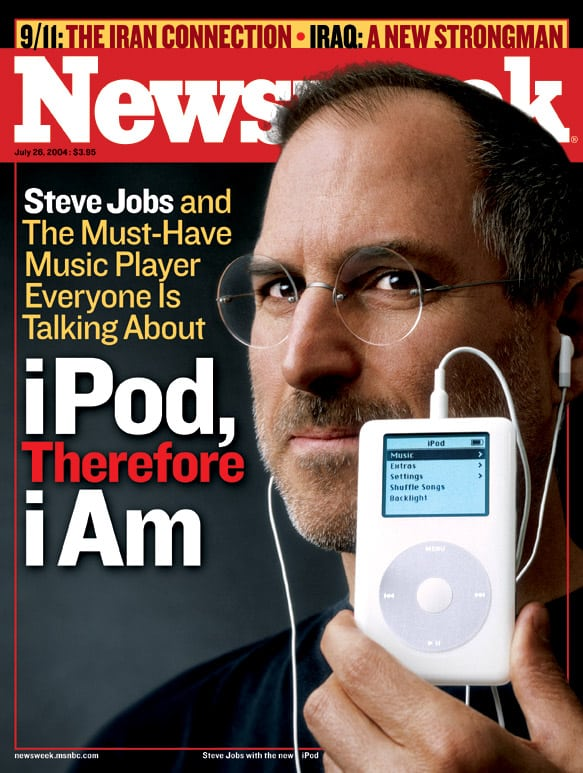 Steve Jobs and iPod on the cover of Newsweek