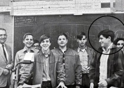 Steve Jobs (circled) at Homestead High School Electronics Club