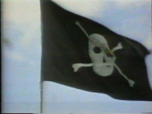 The pirate flog on building Bandley III