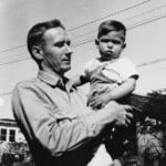 Steve Jobs with his father Paul Jobs (1958)
