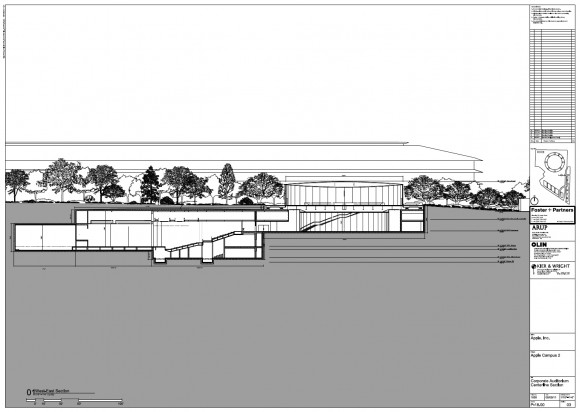 Apple Campus 2 - Auditorium West-East Section (Updated March 2012)