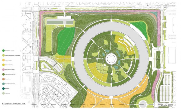Apple Campus 2 - Herbaceous Plan (Updated March 2012)