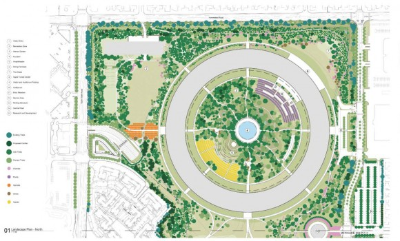 Apple Campus 2 - Landscape Plan North (Updated March 2012)