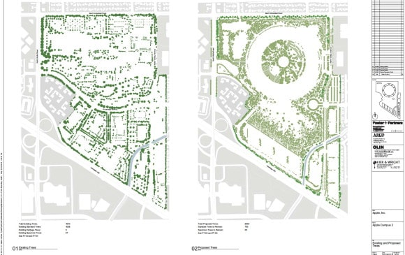 Apple Campus 2 - Proposed Trees (Updated March 2012)