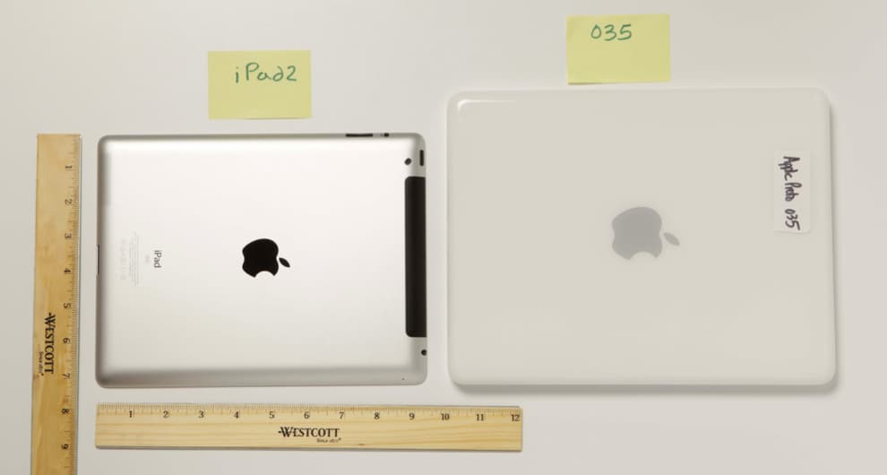 First iPad prototype in comparison with an iPad 2