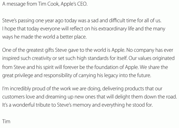 Tim Cook remembers Steve Jobs