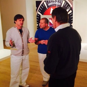Marc Newson, Jony Ive, and Charlie Rose