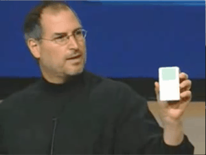 Steve Jobs launches the firs iPod (2001)