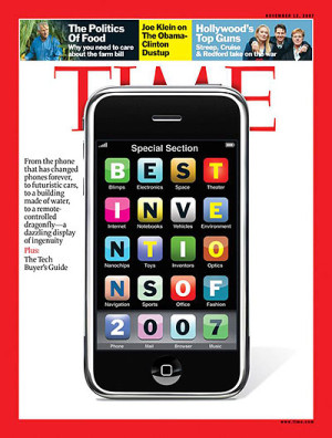 iPhone on the cover of Time Magazine